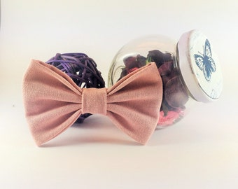 Bow tie brooch pin rose powder
