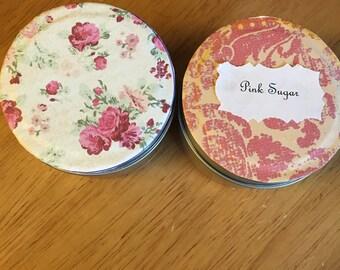 Pink sugar candles 4oz