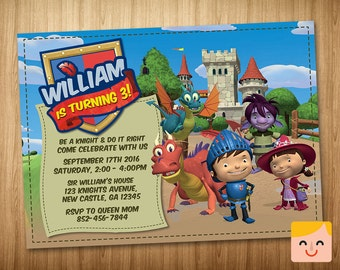 Mike the Knight Invitation, Mike the Knight Birthday Invitation, Mike the Knight Party Invites, Mike the Knight Printables, Mike the Knight