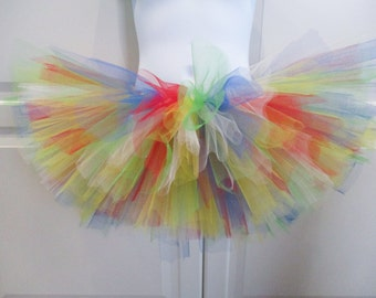 Primary Rainbow Colored Tutu - Other Colors Available