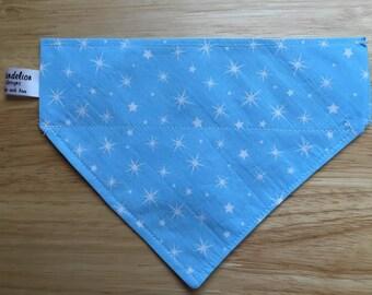 Medium Blue Stars Slip Over Bandana
