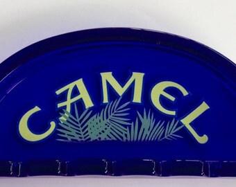 Vintage Cobalt Blue Camel Ashtray