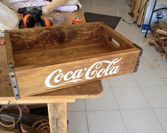 Great looking Coca Cola wood tray