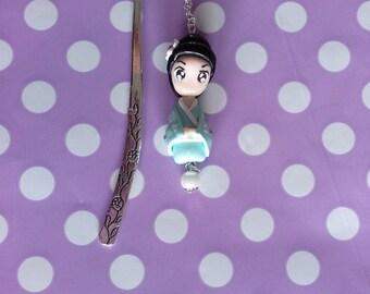 Bookmark Kokeshi Doll Fimo