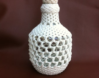 Museum Quality Macrame Bottle
