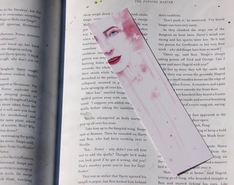 Water Paint Bookmark - Pink