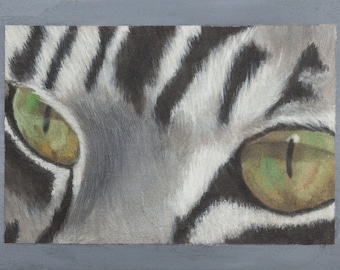 Print of oil painting from me made, cat