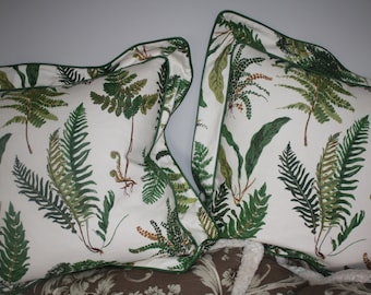 "Pair Schumacher ""Fern"" Pillows"