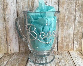 "Swarovski Crystal ""Boss"" Glass Mug"