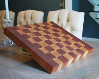 Maple - Mahogany - Cutting Board - Butcher Block - Chopping Block - End Grain - Housewarming Gift - Wood Cutting Board - Kitchen - Chef