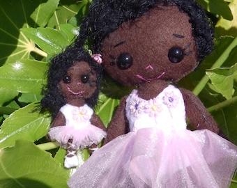 Gingermelon, Felt Doll, Ballerina, Black Doll