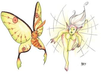 Moth Fairy Md Print