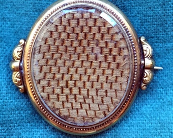 Civil War Period Hair Mourning Brooch