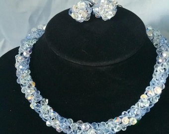 Swarovski Crystals Necklace with matching Earrings