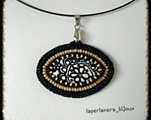 Pendant to embroidery