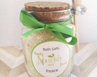 Peace Bath Salts - Lavender Pink Grapefuit Clary Sage Chamomile Orange Bath Salts - Dead Sea Salts - Stress Bath Salts - Gift