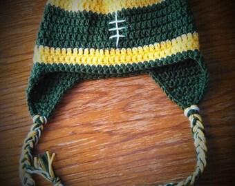 Football Team Crochet Earflap Hat