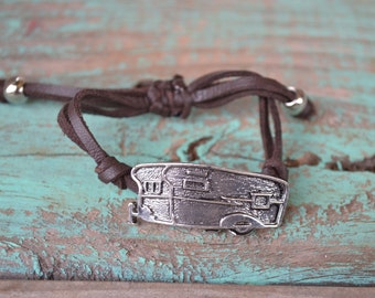silver Metal Gypsy Camper bracelet