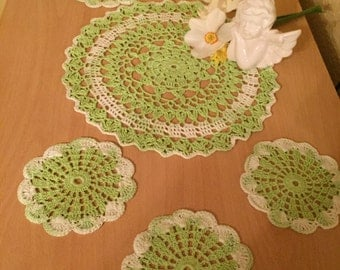 Crocheted Doilies set 7 items