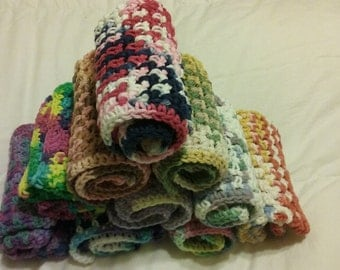 crocheted 100% cotton dishcloths / washcloths