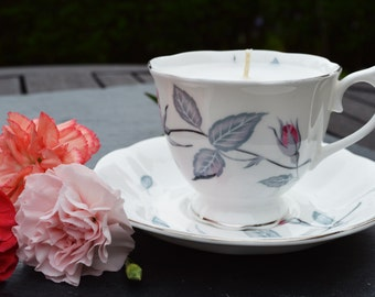 Vintage Teacup Vanilla Scented Candle