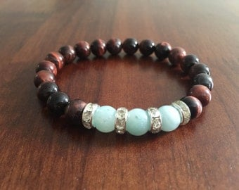 Brown And Teal Beads