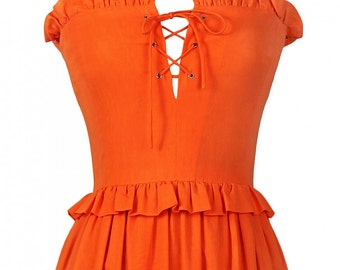 Jean Patou Vintage Orange Dress