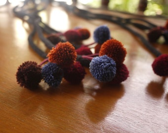 Handmade tribal pom pom strings - for craftwork - Fairtrade tribal craft supply for crafting - new pom poms