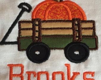 Wagon full of Pumpkin short sleeved t-shirt