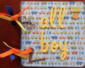 All Boy - 6X6 Chipboard Premade Album