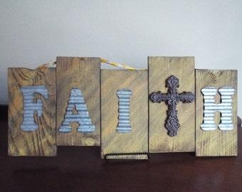 Large Reclaimed Wooden Faith sign