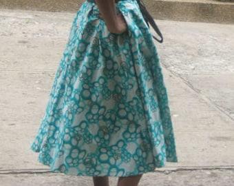 Midi Length Maxi Skirt with Pockets