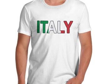 Men's Italy Flag Football T-Shirt
