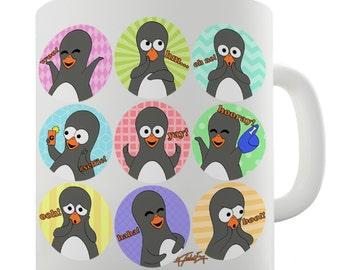 Guin Penguin Emoticons Ceramic Funny Mug