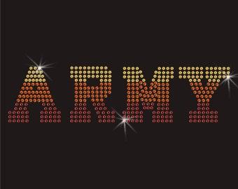Army Rhinestone Applique
