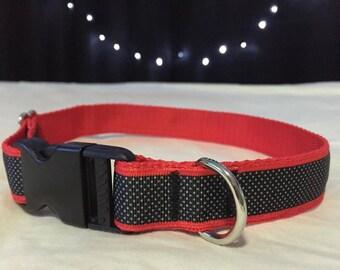 Red & black Dog Collar