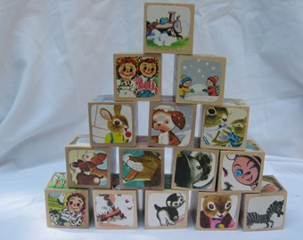 CUSTOM Picture Book Wooden Blocks - you choose any children's book!