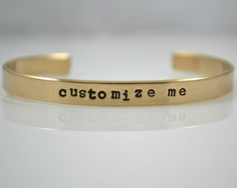 Customized hand stamped NuGold bangle