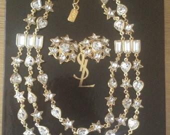 Yves Saint Laurent YSL necklace/earrings/Ohrringe