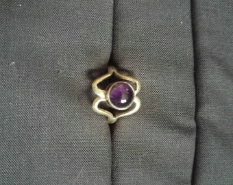 Silver Gemstone Heart Ring