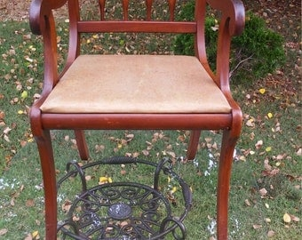 Vintage Continental Furniture Cherry Wood Chair