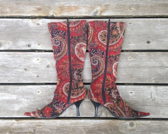 Vintage Tapestry Heels