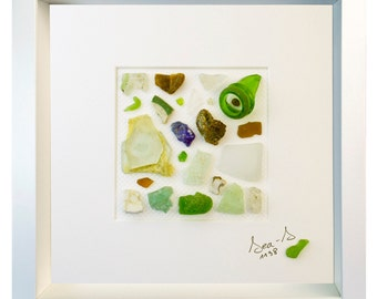 Rigardu - ID 1138 - Genuine Sea Glass Sculpture