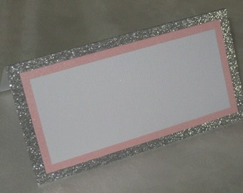 Wedding place cards, seating cards, place cards, glitter seating cards, set of 25