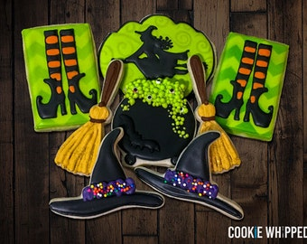 Halloween Cookie Set - Witches Toil and Trouble - 1 Dozen