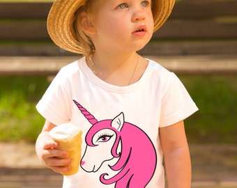 Toddler Unicorn T-Shirt 18/24mth, Girls, Toddler, Pink, Unicorn, Horse, Girls unicorn tshirt, Girls unicorn top, Kids unicorn tshirt, baby