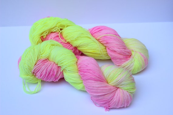 SALE! Hot Pink Lemonade 75/25 SW Merino/Nylon
