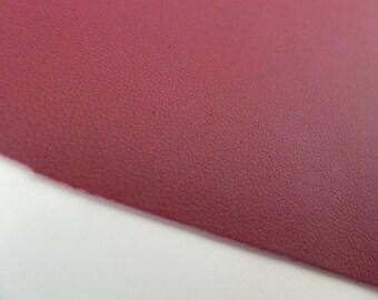 piece of leather 10 x 15 cm dark pink