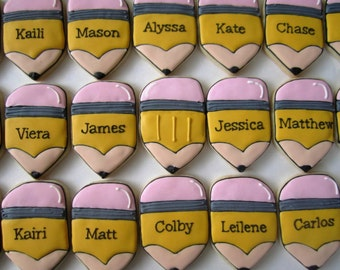 Pencil Cookies/end of school gift/back to school gift