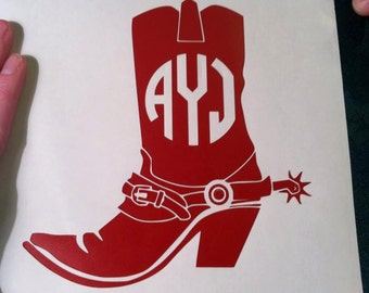 Cowboy Boot w/ Spur Decal